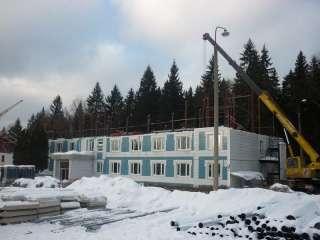 Реконструкция кровель пионерского лагеря в Галицыно
