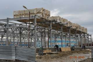 Устройство наружного контура складского комплекса. г.Салехард