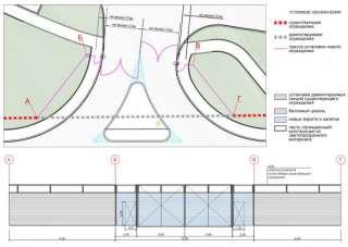 Перенос шумозащитного экрана с устройством ворот