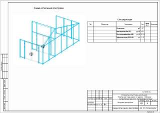 Конструктивное решение оранжереи (Остекление)