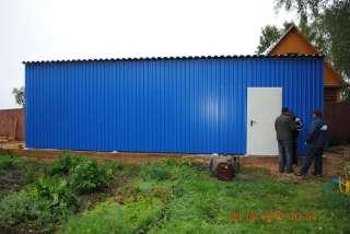 Устройство 2 зданий размерами 10,0х3,5м и 6,0х3м